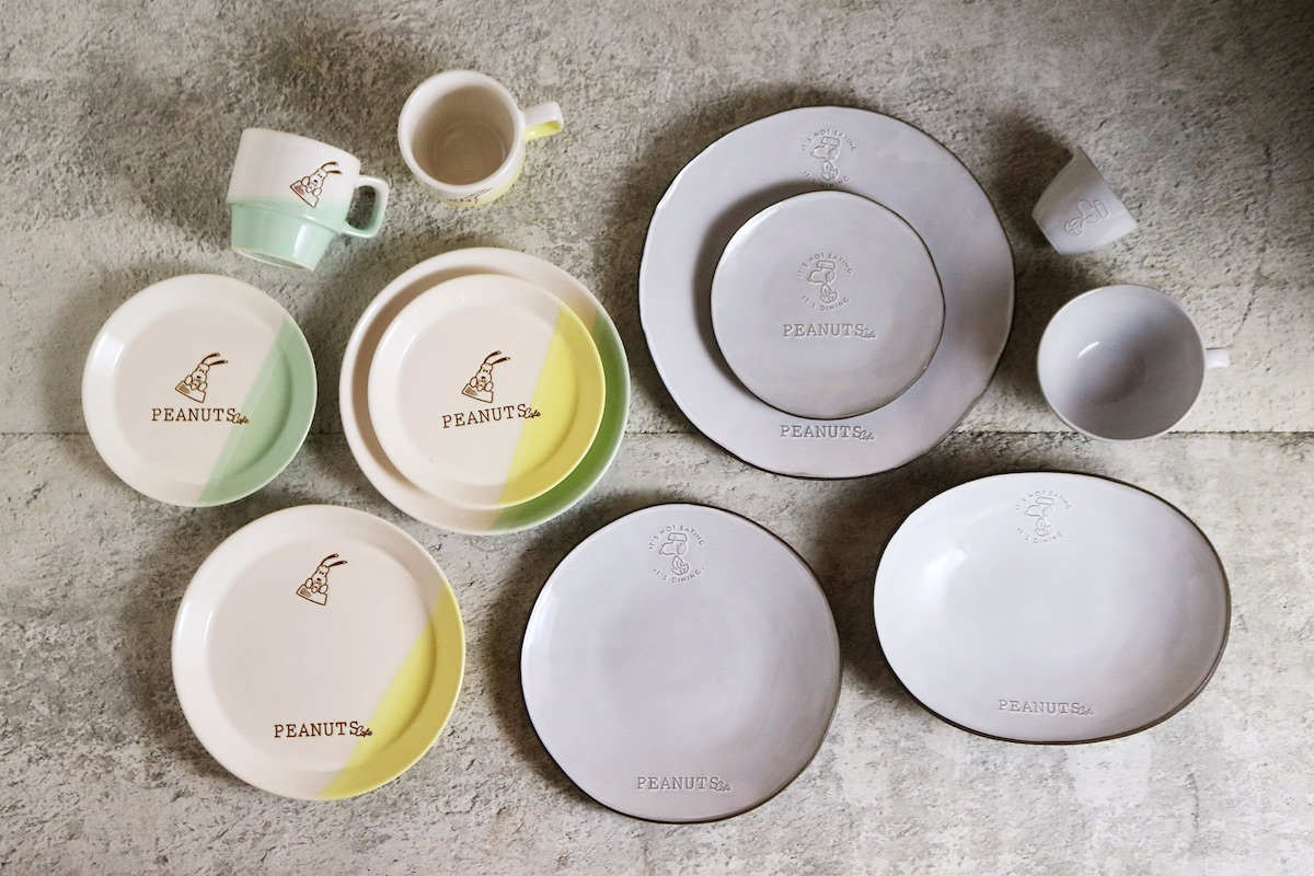 「PEANUTS Cafe 中目黒」オリジナルテーブルウェア